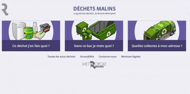 Le guide des déchets de Rennes métropole