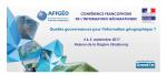 Alkante partenaire de la Conférence francophone de l'information géographique du 04 & 5 septembre